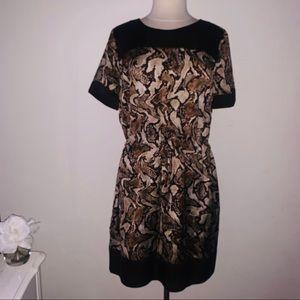 Brown animal snake print dress xl Michael Kors